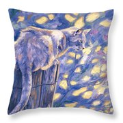 Hemingway Cat Throw Pillow by Lucie Bilodeau