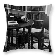 Hemmingway's Desk Throw Pillow