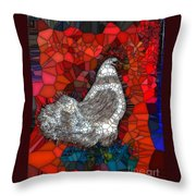 Hen Watch I Throw Pillow