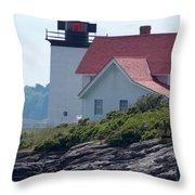 Hendricks Head Lighthouse Throw Pillow