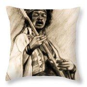 Hendrix-antique Tint Version Throw Pillow