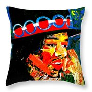 Hendrix Rocks Throw Pillow