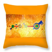 Henge-o-glyph From Wheat-shire Throw Pillow