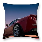 Hennessey Red Throw Pillow