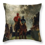 Henri De Toulouse Lautrec Throw Pillow by The Jockeys
