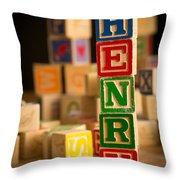 Henry - Alphabet Blocks Throw Pillow