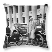 Henry And Edsel Ford Throw Pillow