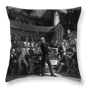 Henry Clay Speaking In The Senate Throw Pillow