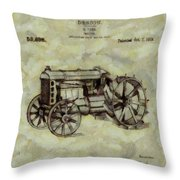 Henry Ford Tractor Patent Throw Pillow