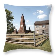 Henry Hill At Manassas Throw Pillow