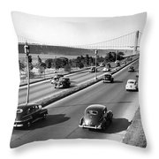 Henry Hudson Drive In New York Throw Pillow