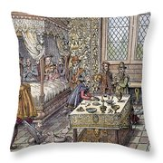 Henry II Of France, 1559 Throw Pillow