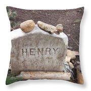 Henry Thoreau Throw Pillow