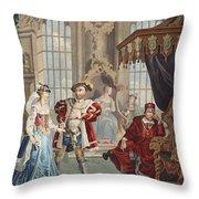 Henry Viii And Anne Boleyn Throw Pillow