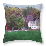 Henry Warren's Red Barn Throw Pillow