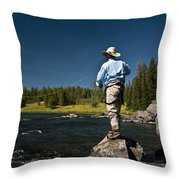 Henry's Fork Throw Pillow by Ron White