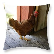 Henscratch Throw Pillow