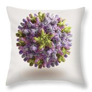 Hepatitis B Virus Throw Pillow