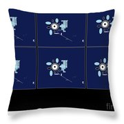 Her 1st Flowers 2 Throw Pillow