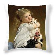 Her Best Friend Throw Pillow