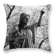 Her Cross Throw Pillow
