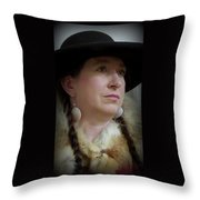 Her Hat And Fur Throw Pillow