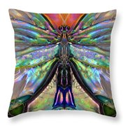 Her Heart Has Wings - Spiritual Art By Sharon Cummings Throw Pillow