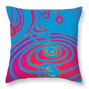 Her Navel Electric Vibrates Pulsates  Throw Pillow by Feile Case