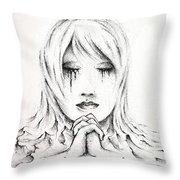 Her Prayers Throw Pillow