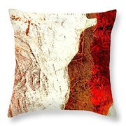 Her Red Silhouette Throw Pillow