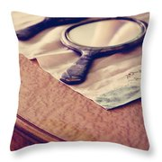 Her Sailor Remains At See Throw Pillow