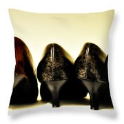Her Shoes Throw Pillow