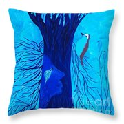 Her Tree Of Life  Throw Pillow