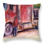 Her Truck Throw Pillow