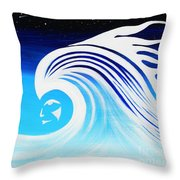 Her Wave Throw Pillow