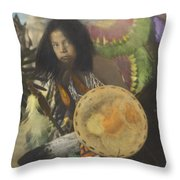 Heratige #1-young Traditional Dancer Throw Pillow