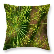 Herbal Abstract Throw Pillow