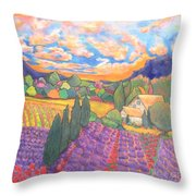 Herbes De Provence  Throw Pillow by Chaline Ouellet