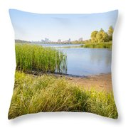 Herbs And Reeds Close To The River Throw Pillow