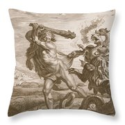 Hercules Fights The Lernian Hydra Throw Pillow