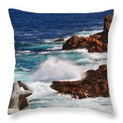 Hercules On The Argonauts Ship Throw Pillow