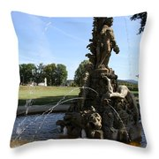Hercules Sculpture Water Fountain  Throw Pillow