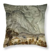 Hercules Supporting The Sky Instead Of Atlas Throw Pillow