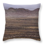 Herd Of Antelope   #8573 Throw Pillow