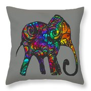 Herd Of Colors Throw Pillow