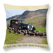 Get The Flock Out Throw Pillow
