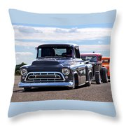 Here Come The Hot Rod Boys Throw Pillow