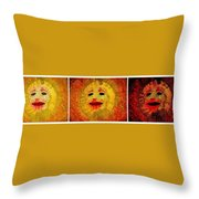 Here Come The Suns Triptych Throw Pillow