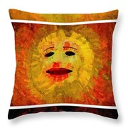 Here Come The Suns Vertical Throw Pillow