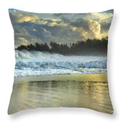Here Comes A Big One Throw Pillow